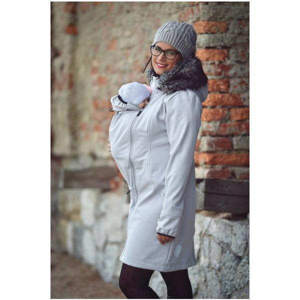 Babywearing Outerwear - Angel Wings Babywearing Softshell Coat Grey