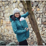 Babywearing Outerwear - Angel Wings Babywearing Softshell Jacket Bottle Green