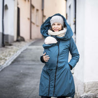 Angel Wings Babywearing Winter Coat Petrol