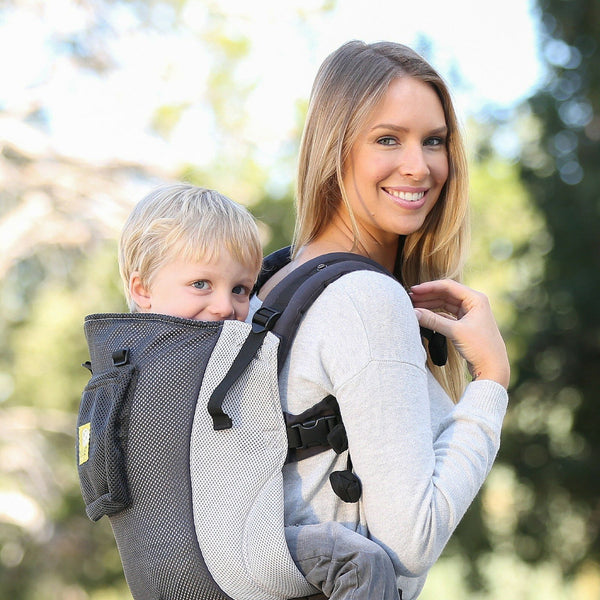 Buckle Carrier - LÍLLÉbaby CarryOn Toddler Carrier AIR Grey & Silver