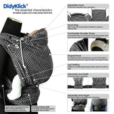 Half Buckle Baby Carrier - Didymos DidyKlick Doubleface Anthracite