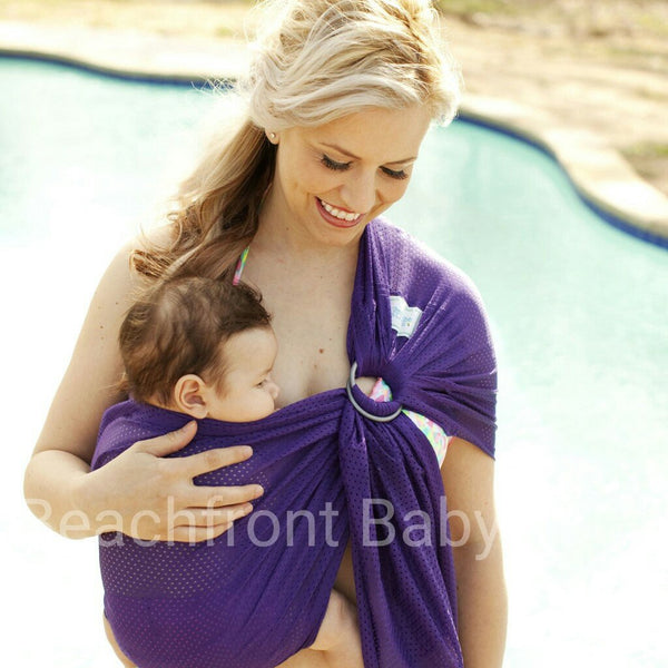 Water Carrier - Beachfront Baby Water Ring Sling Paradise Plum