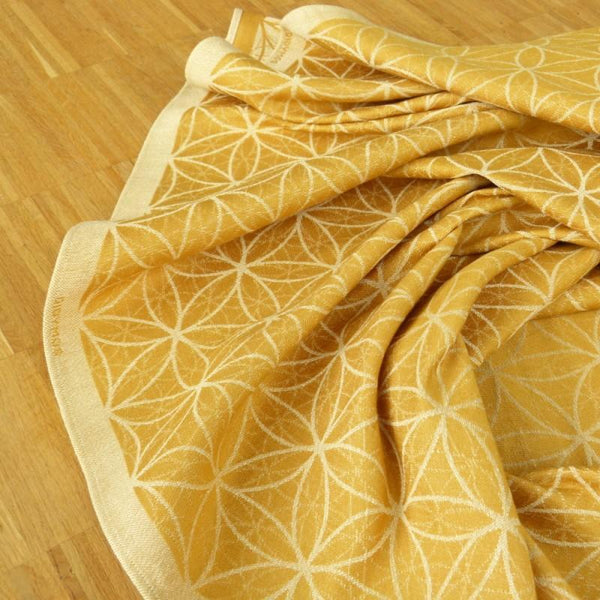 Woven Wrap - Didymos Baby Woven Wrap Flower Of Life Gold Hemp