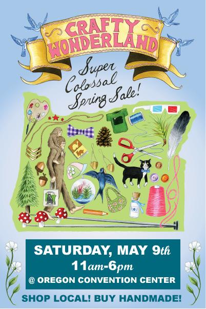 This Saturday :: Crafty Wonderland Super Colossal Spring Sale 2015!