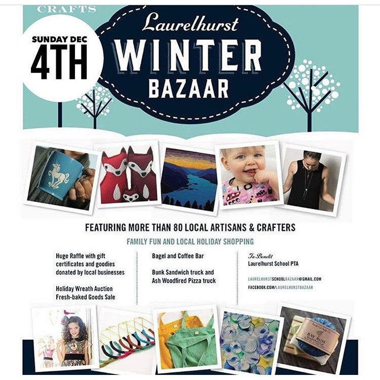 This SUNDAY :: Laurelhurst Winter Bazaar 2016!