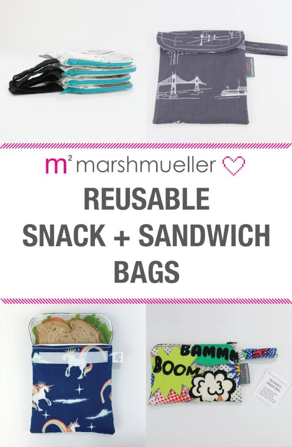 NEW :: Reusable Snack + Sandwich Bags!