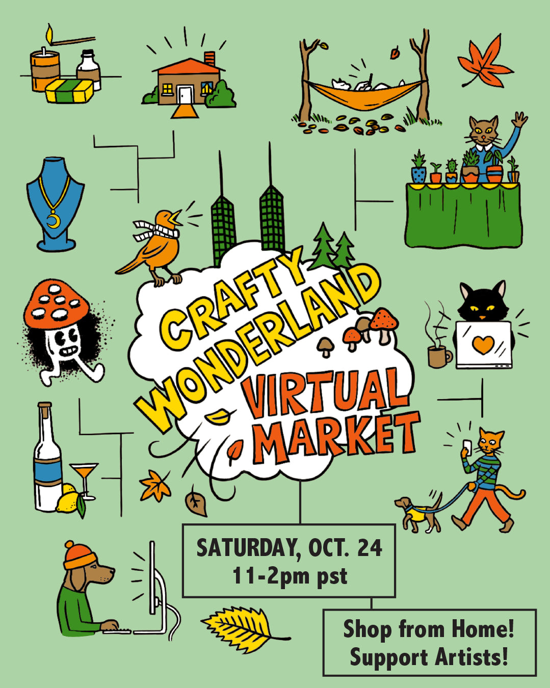 THIS SATURDAY :: Crafty Wonderland October Virtual Market!