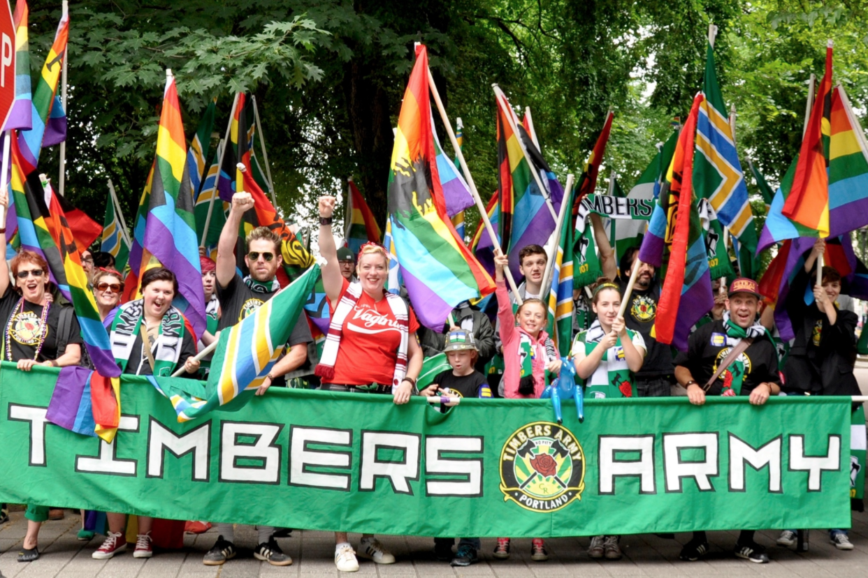 Timbers Army, Pride Edition.