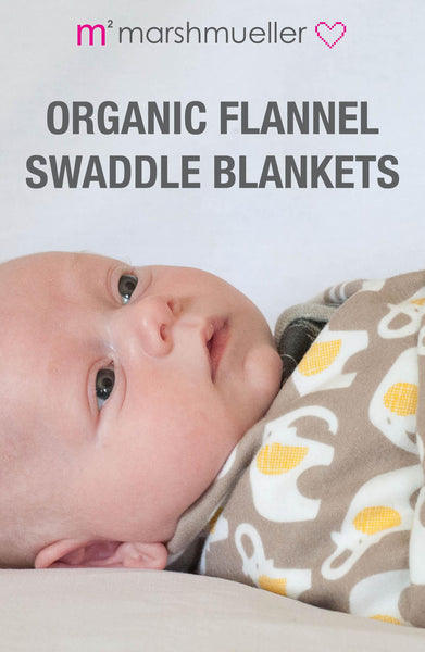 Organic Flannel Swaddle Blankets