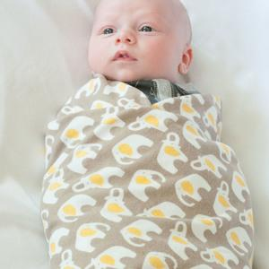 Greige Elephants Swaddle