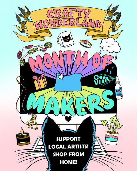 Crafty Wonderland Month of Makers Graphic