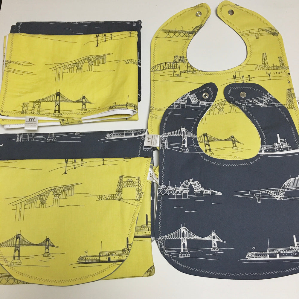 custom-bridgetown-baby-gift-set-bib-changing-pad-diaper-clutch