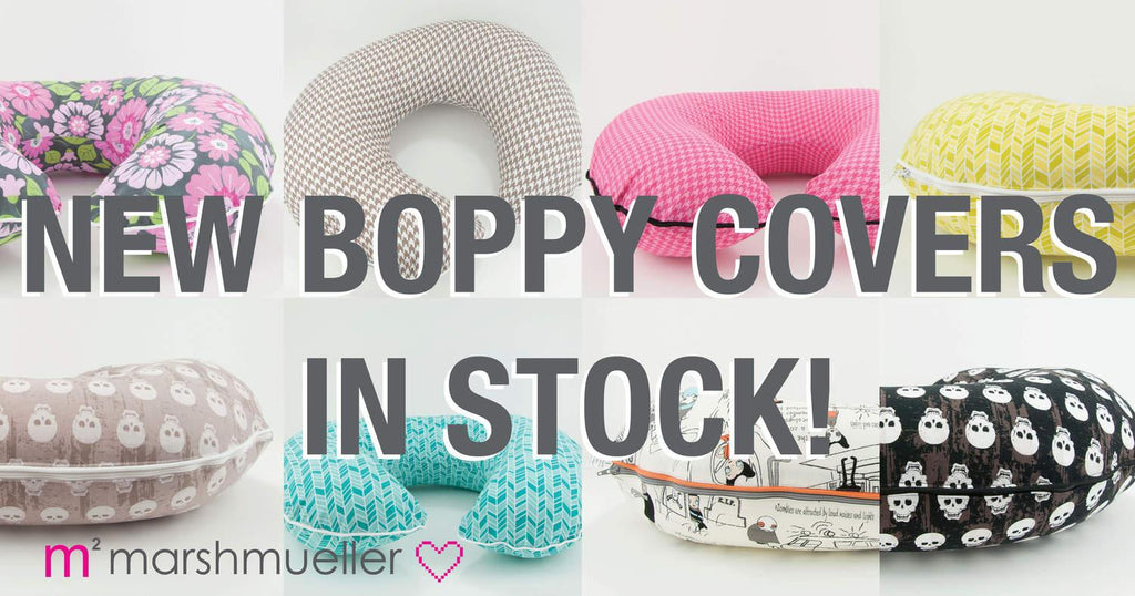 New MarshMueller Boppy Pillow Covers