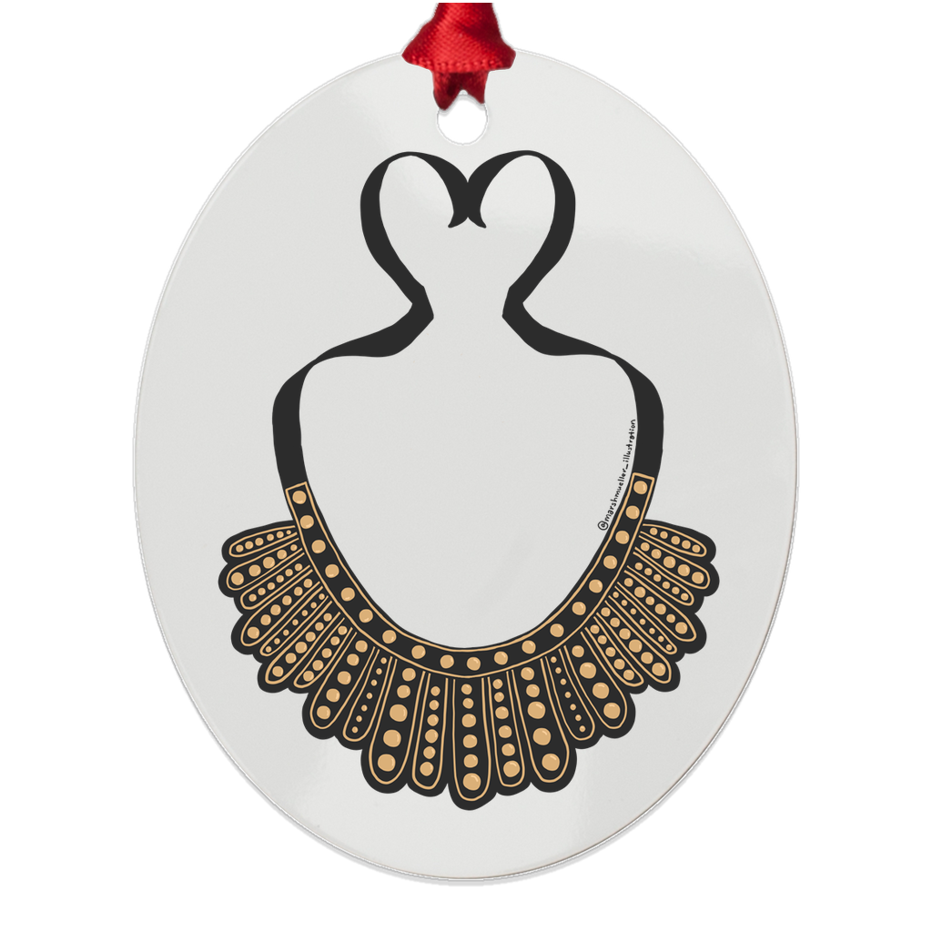 RBG Dissent Collar Metal Ornament