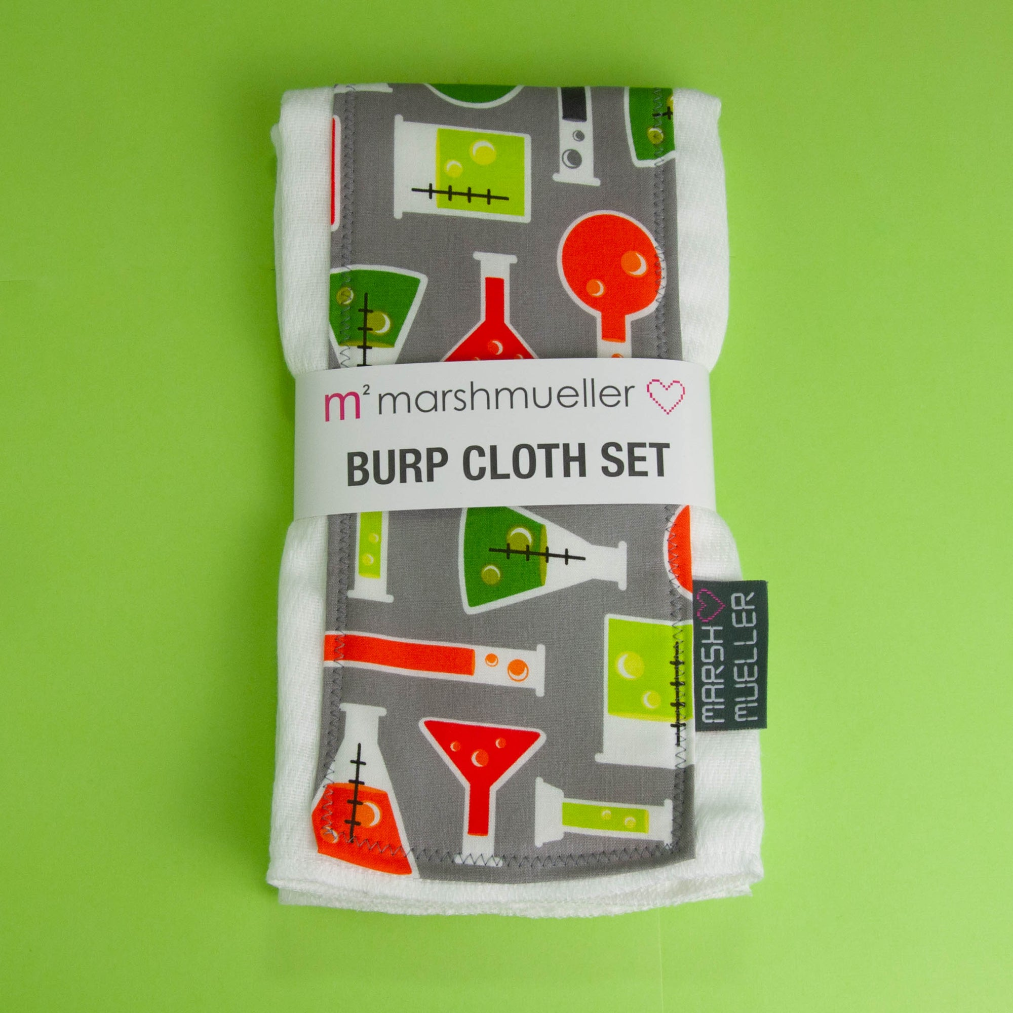Beakers Burp Cloth Set
