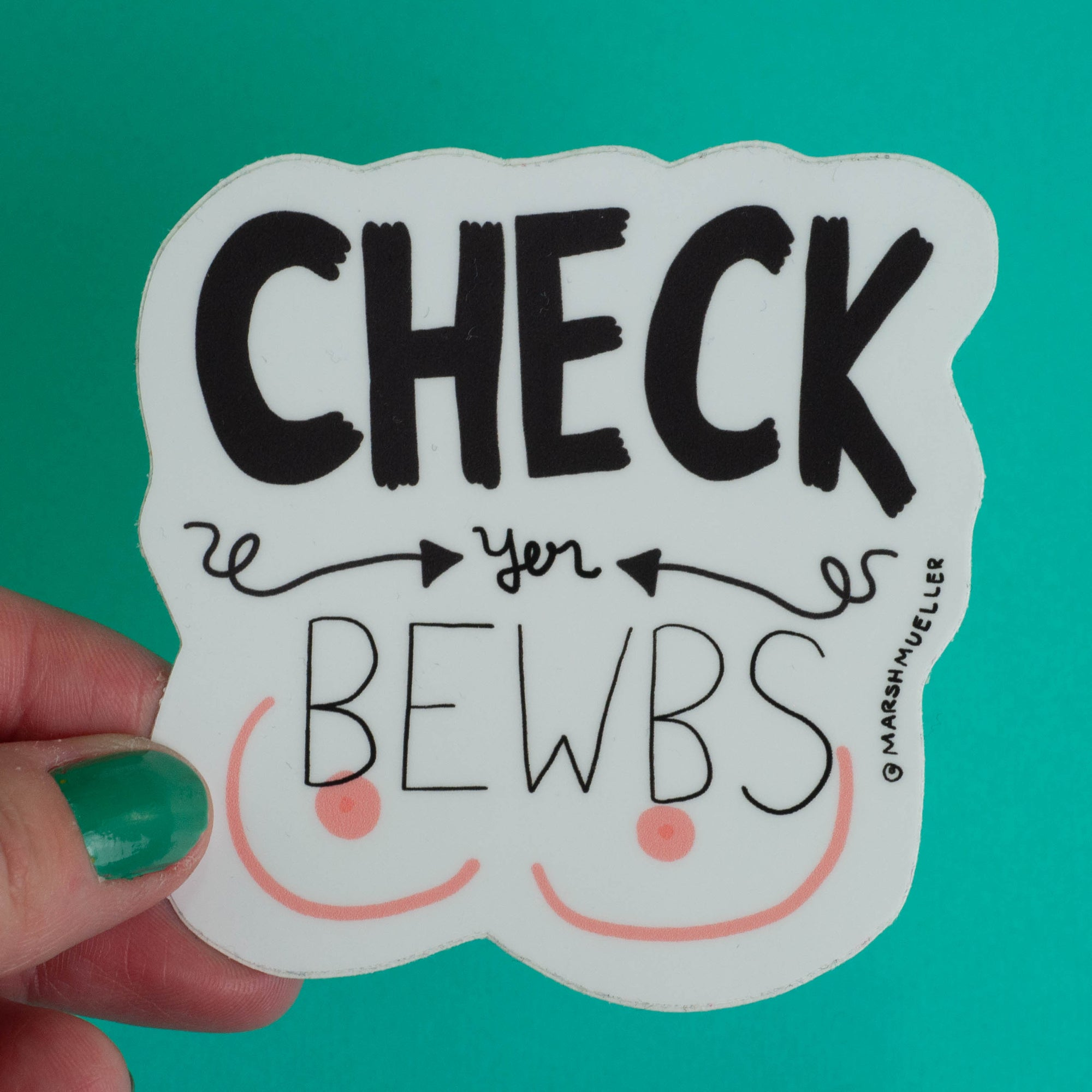 Check Yer Bewbs Sticker