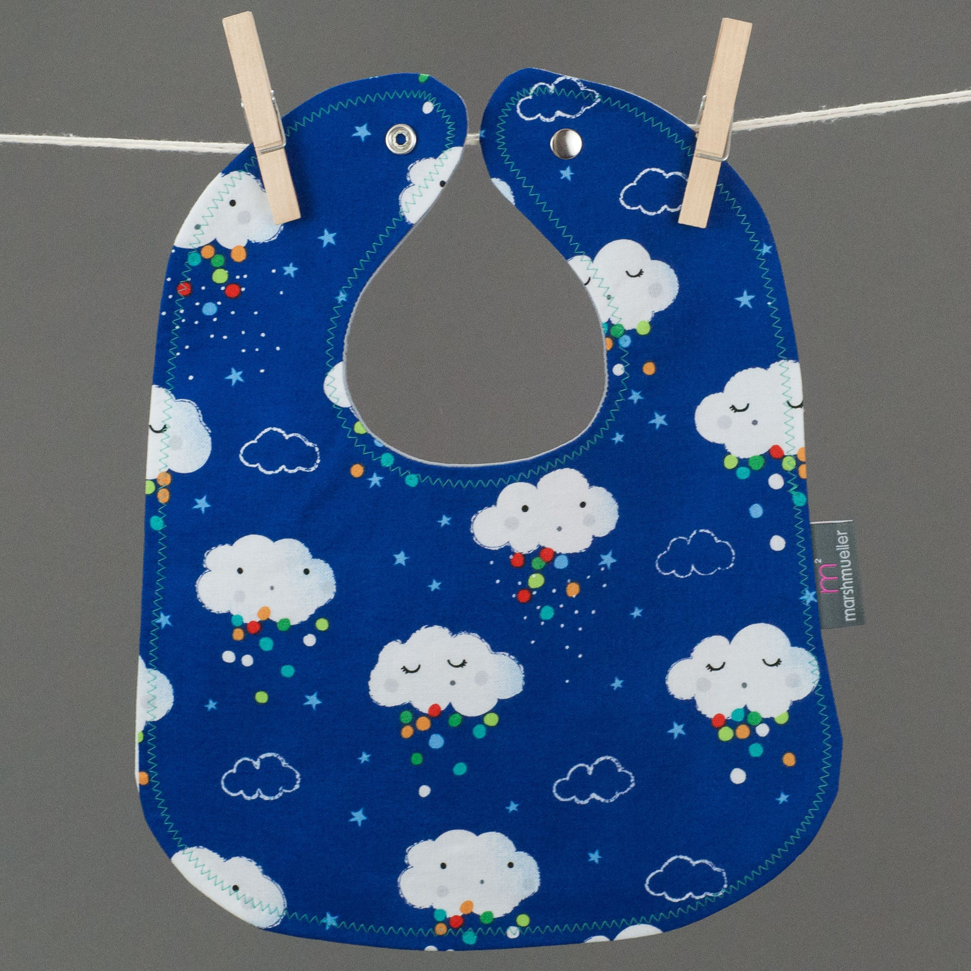 Blue Rain Clouds Bib
