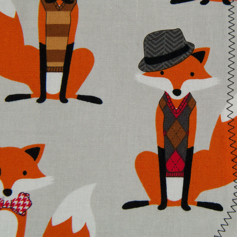 Grey Dapper Foxes Bib - MarshMueller