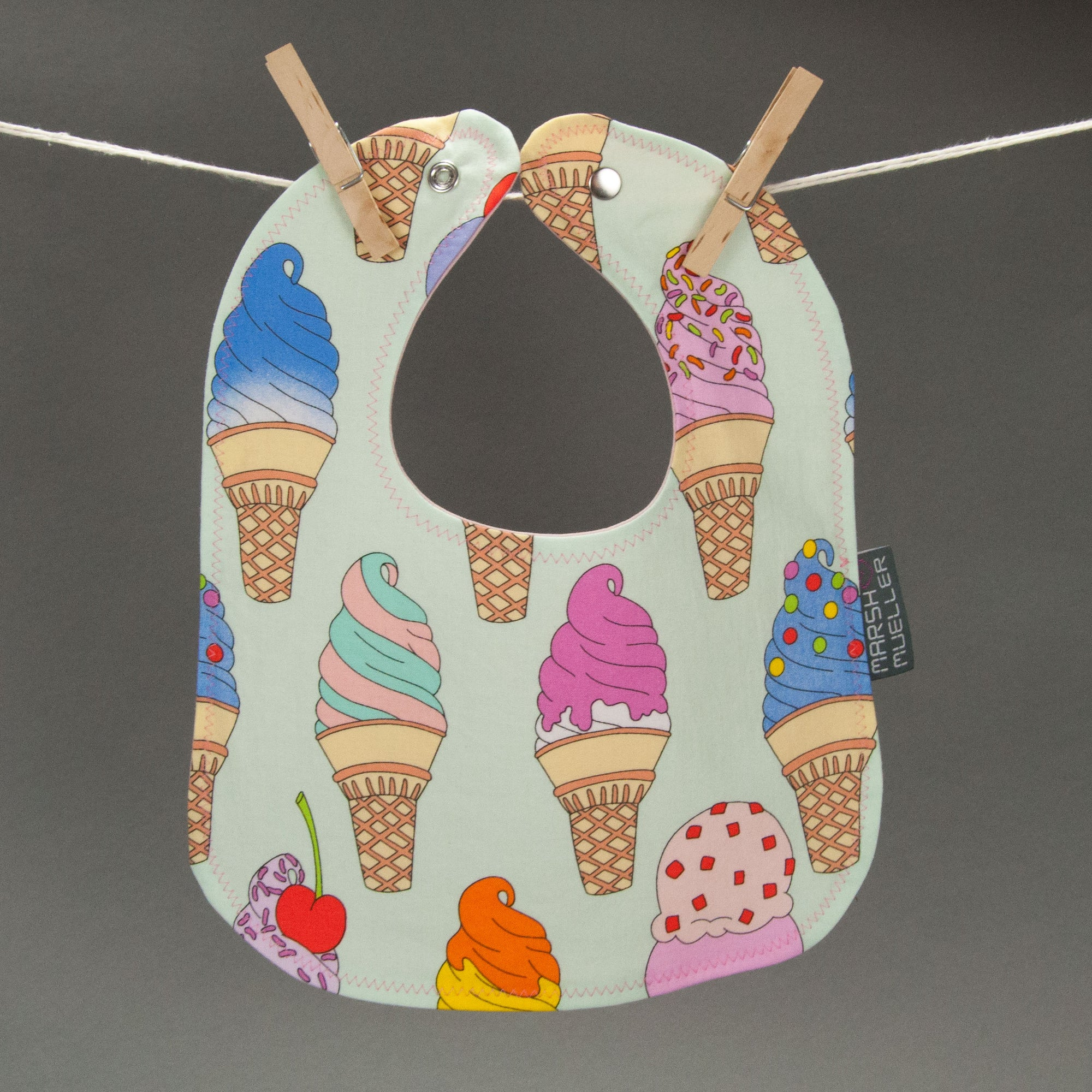 I Scream, You Scream Bib - MarshMueller