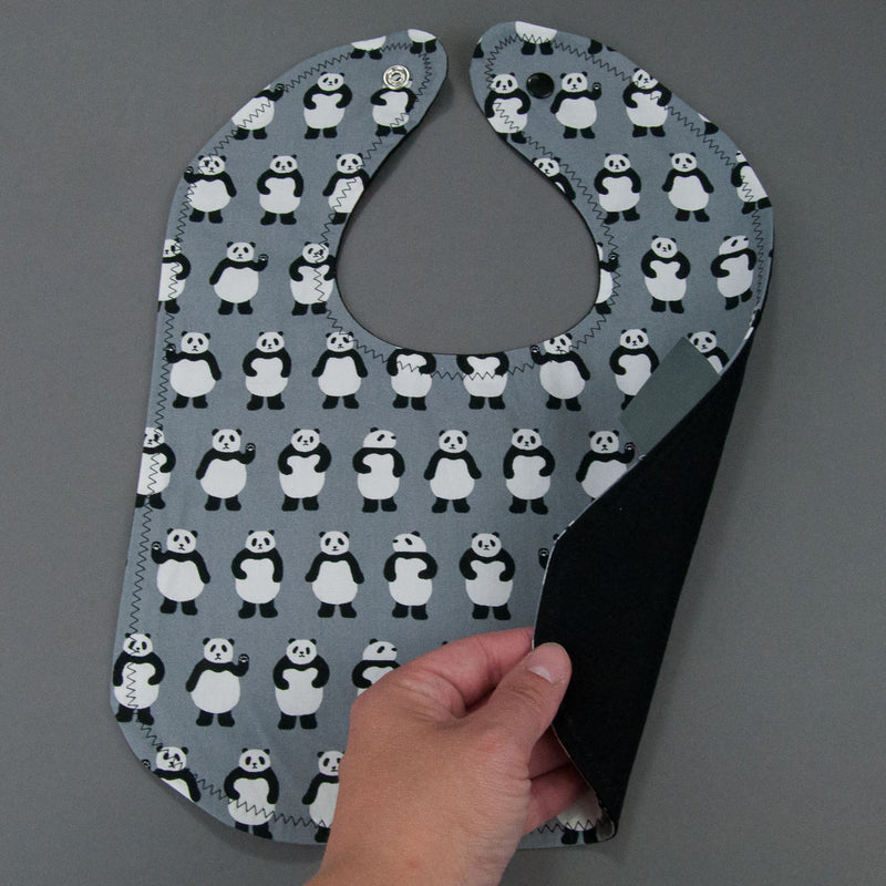 Teeny Panda Bears Bib