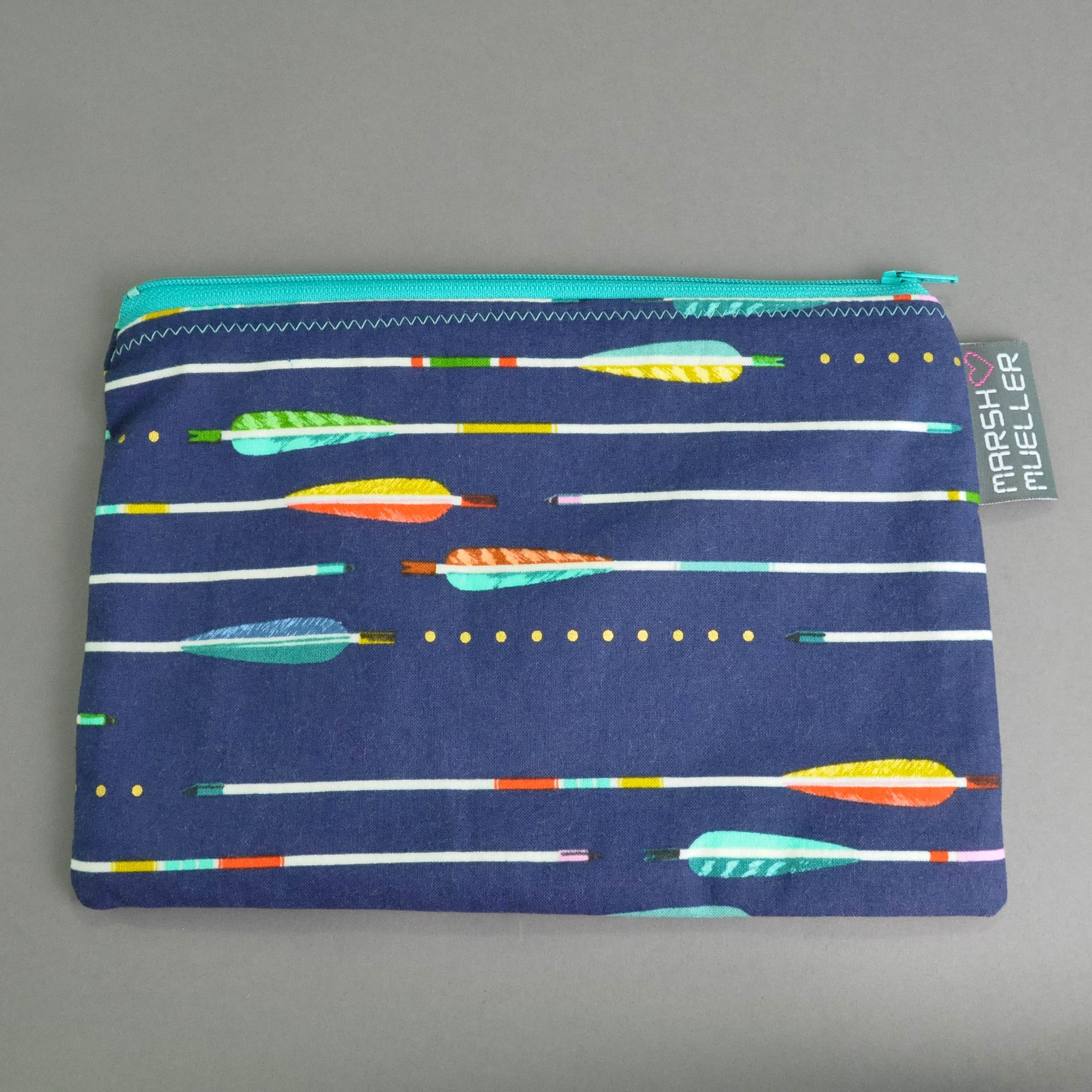 Blue Metallic Arrows Zippy Bag