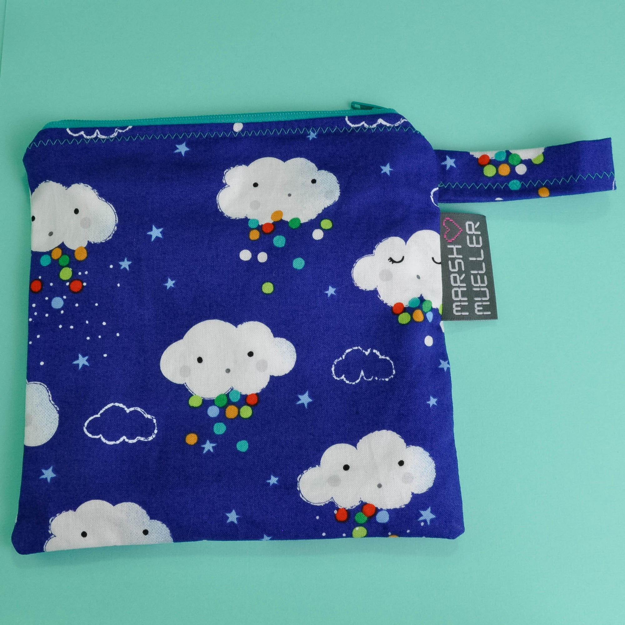 Blue Rain Clouds Reusable Sandwich Bag