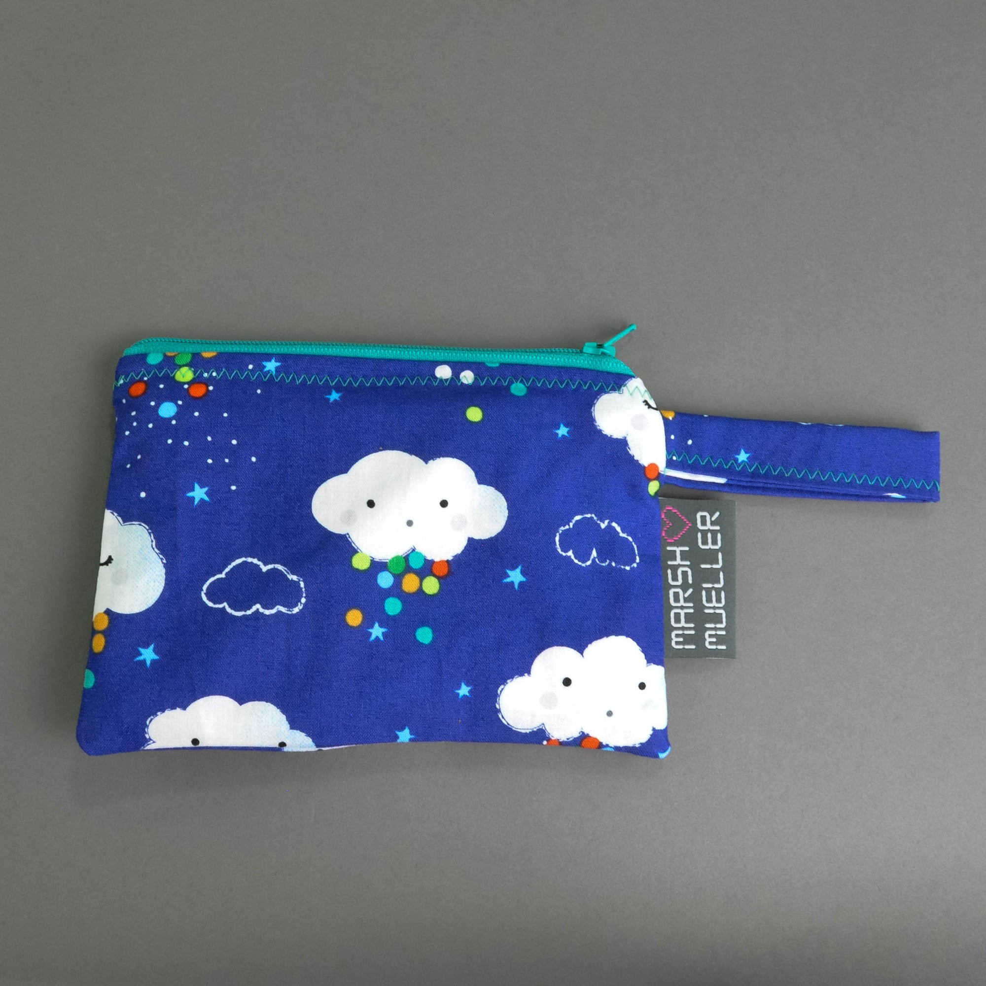 Blue Rain Clouds Reusable Snack Bag