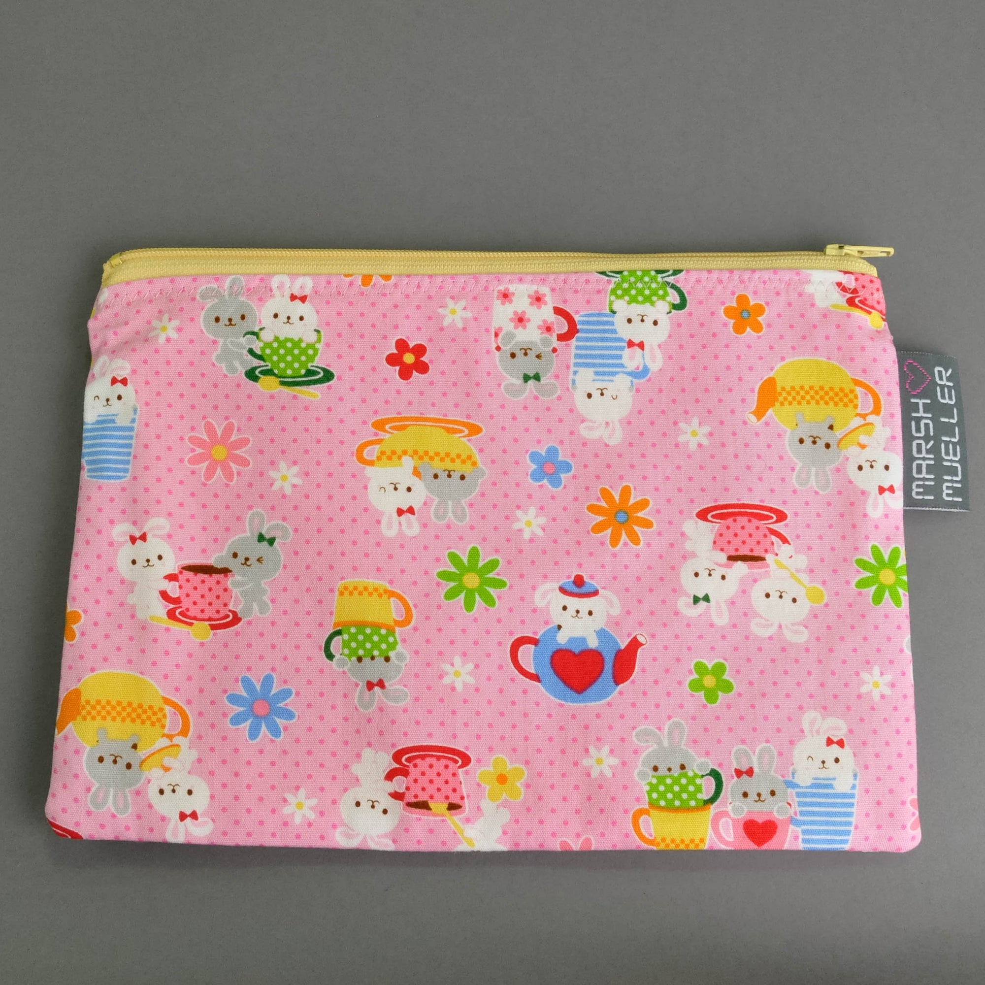 Bunny Tea Party Zippy Bag