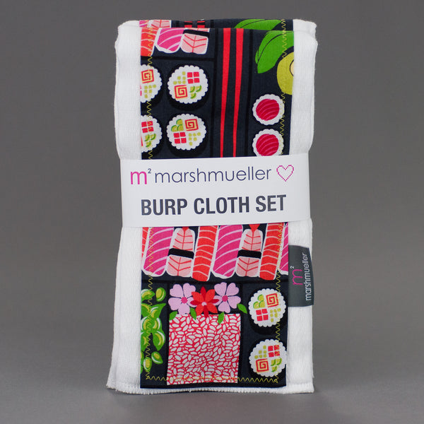 Bento Box Burp Cloth Set by MarshMueller