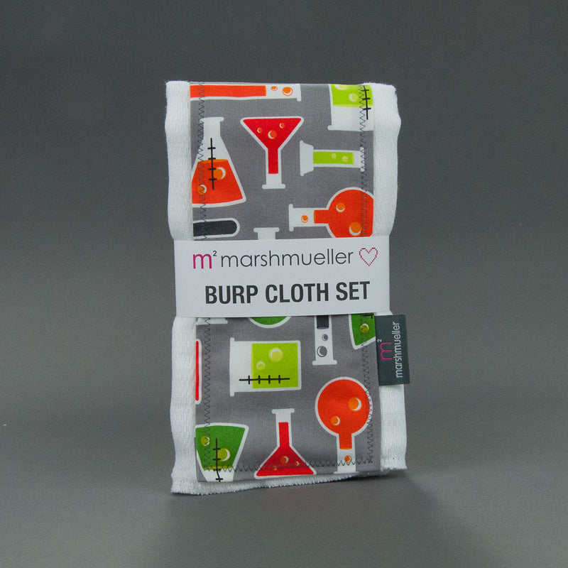 Beakers Burp Cloth Set, Burp Cloth Set, - MarshMueller
