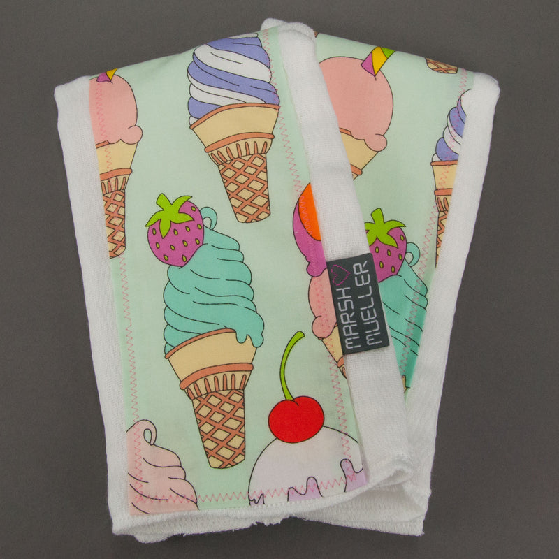 I Scream, You Scream Burp Cloth Set