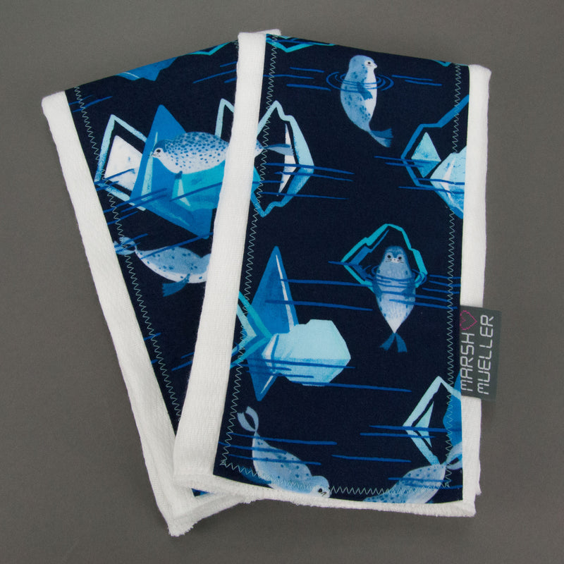 Seals + Icebergs Burp Cloth Set - MarshMueller