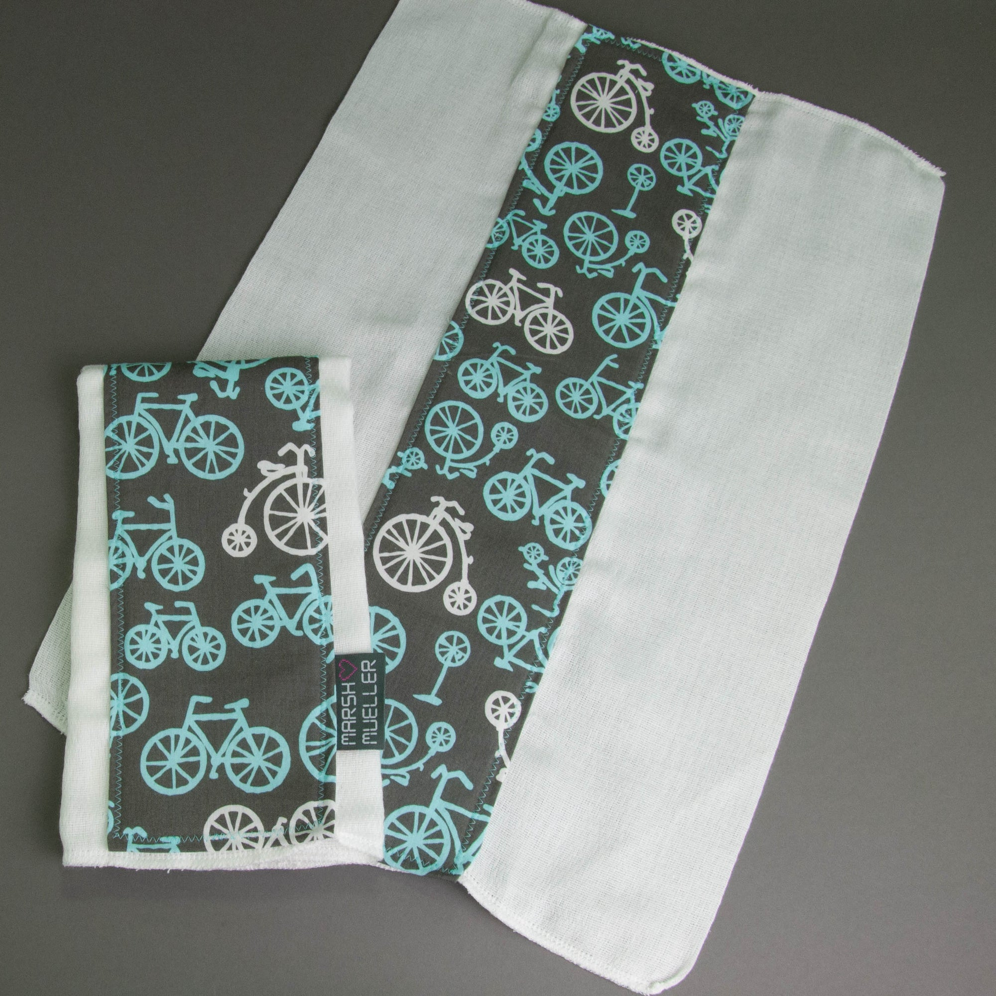 Blue Bicycles Burp Cloth Set