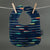 Blue Metallic Arrows Bib