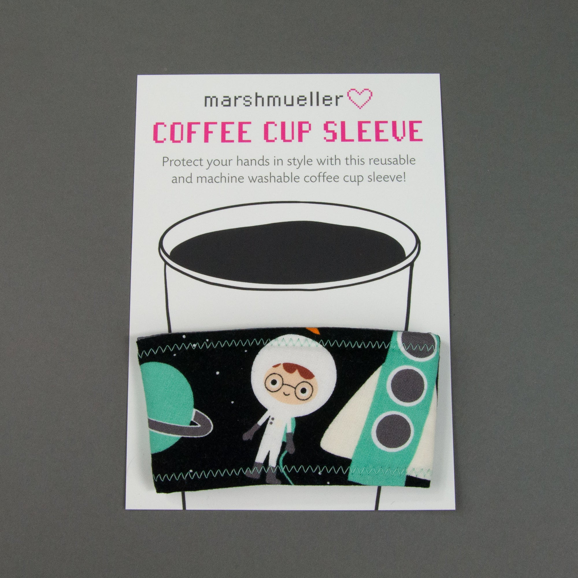 Space Explorers Coffee Cup Sleeve, Coffee Cup Sleeve, - MarshMueller