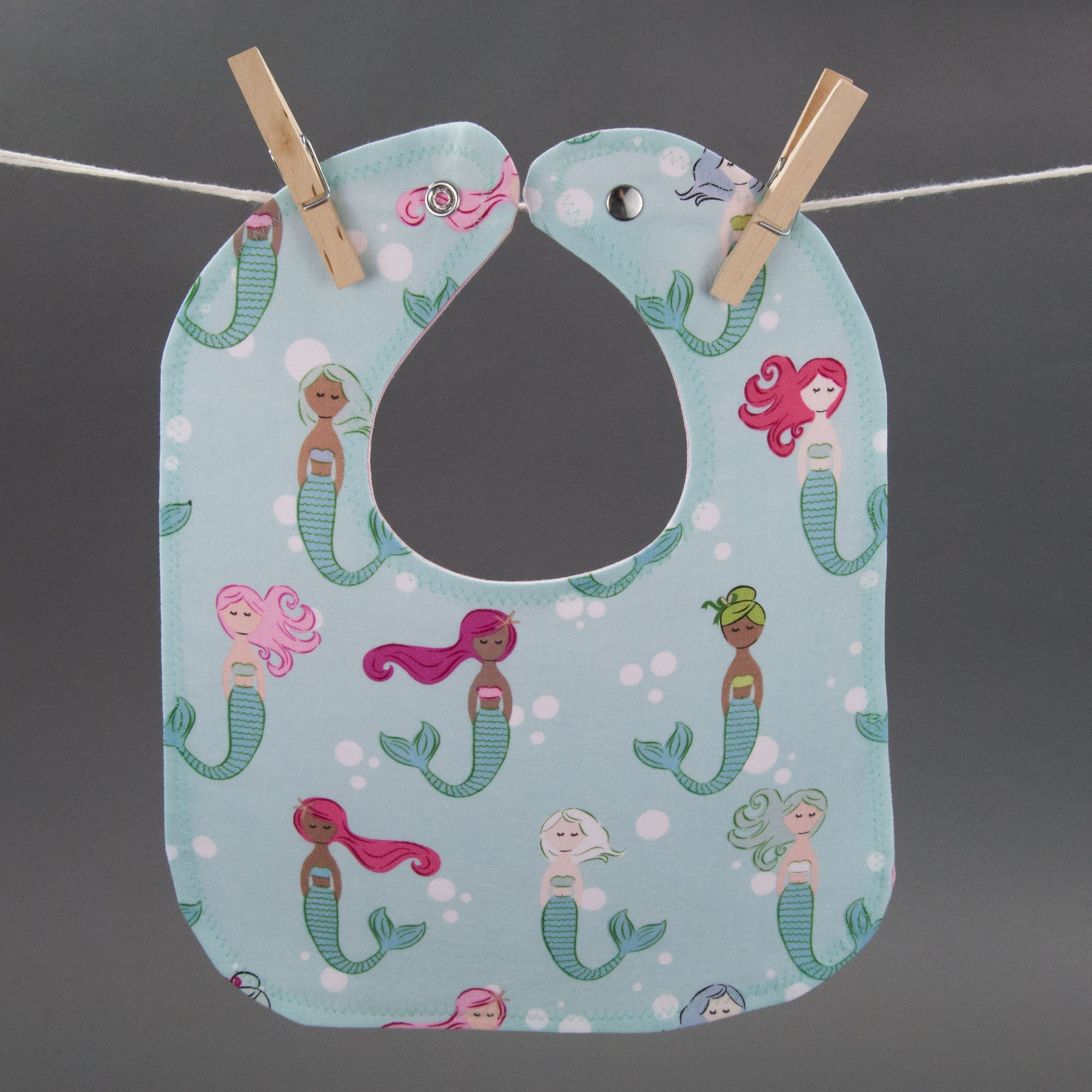 Colorful Mermaids Bib, Bib, - MarshMueller