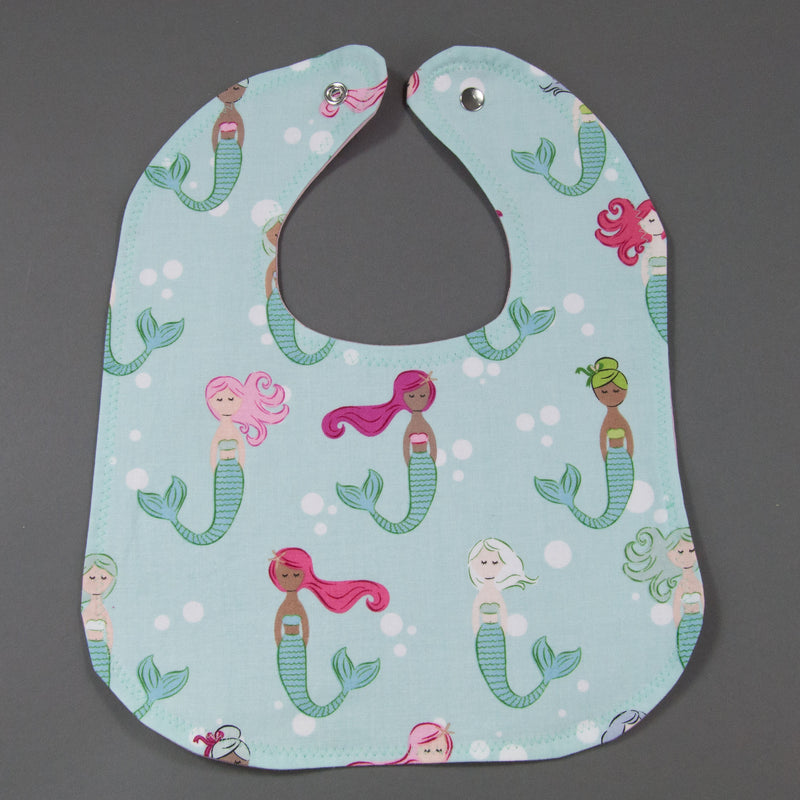 Colorful Mermaids Bib