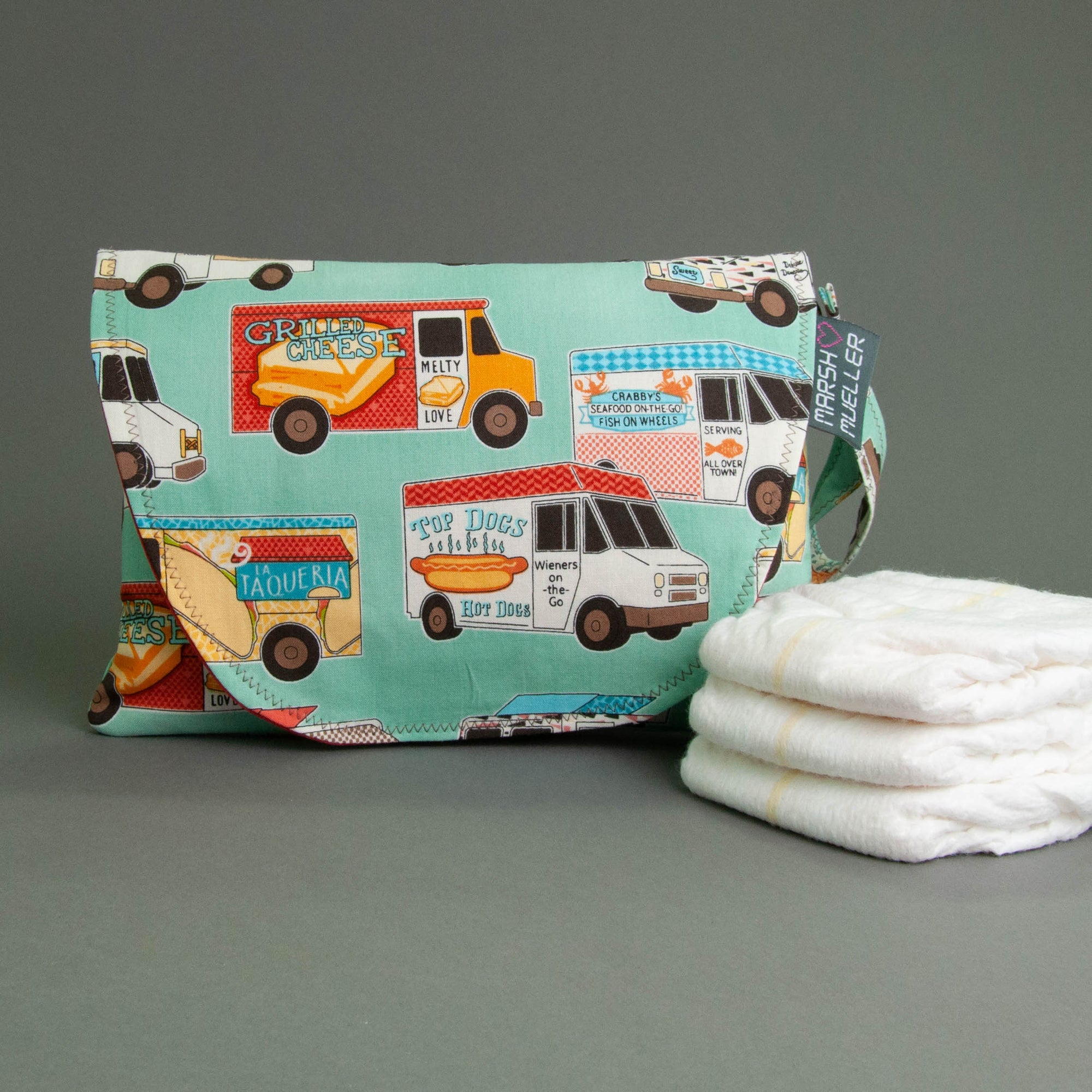 Food Trucks Diaper + Wipe Clutch