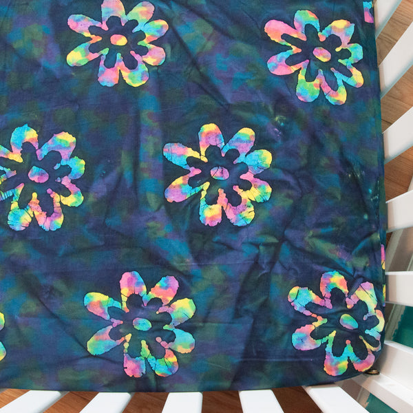 Flower Power Fitted Crib Sheet by MarshMueller