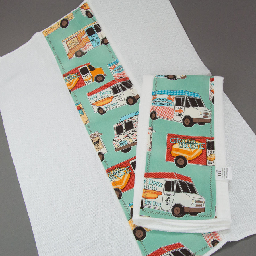 Food Trucks Burp Cloth Set