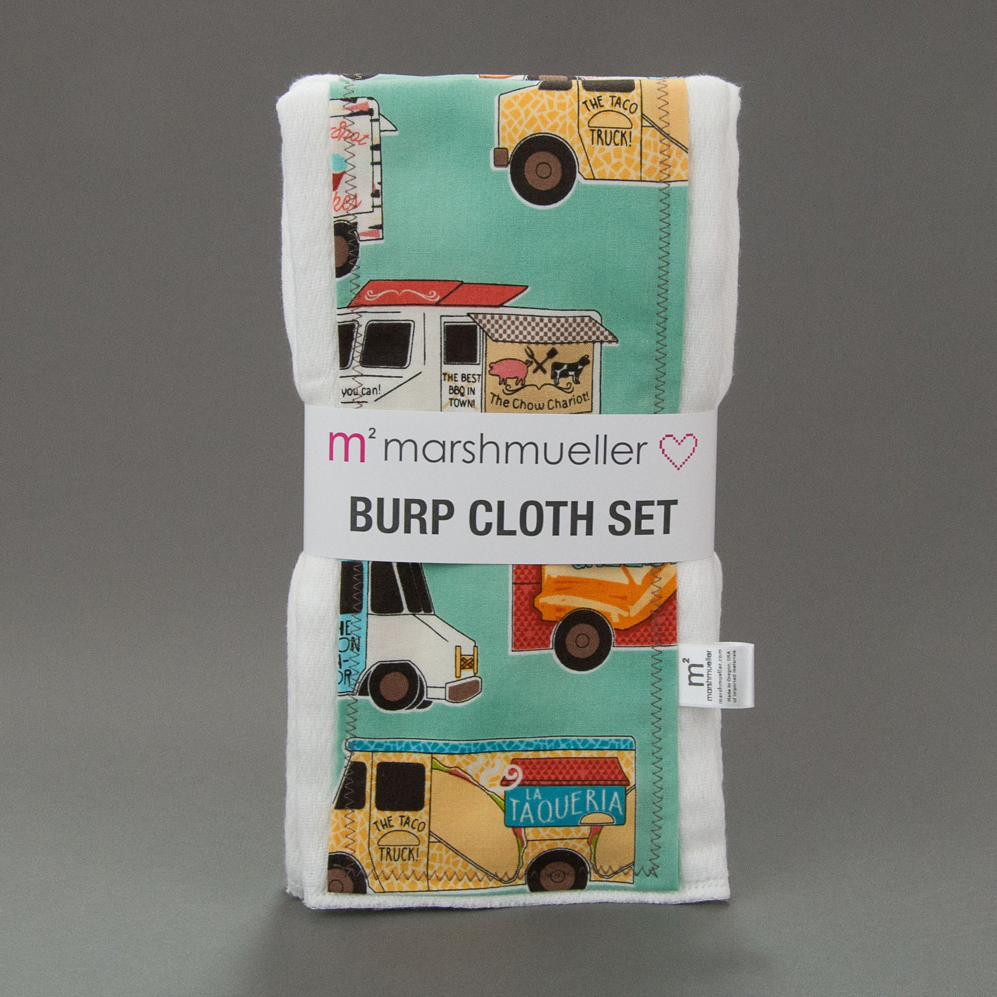Food Trucks Burp Cloth Set, Burp Cloth Set, - MarshMueller