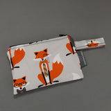 Grey Dapper Foxes Reusable Snack Bag by MarshMueller
