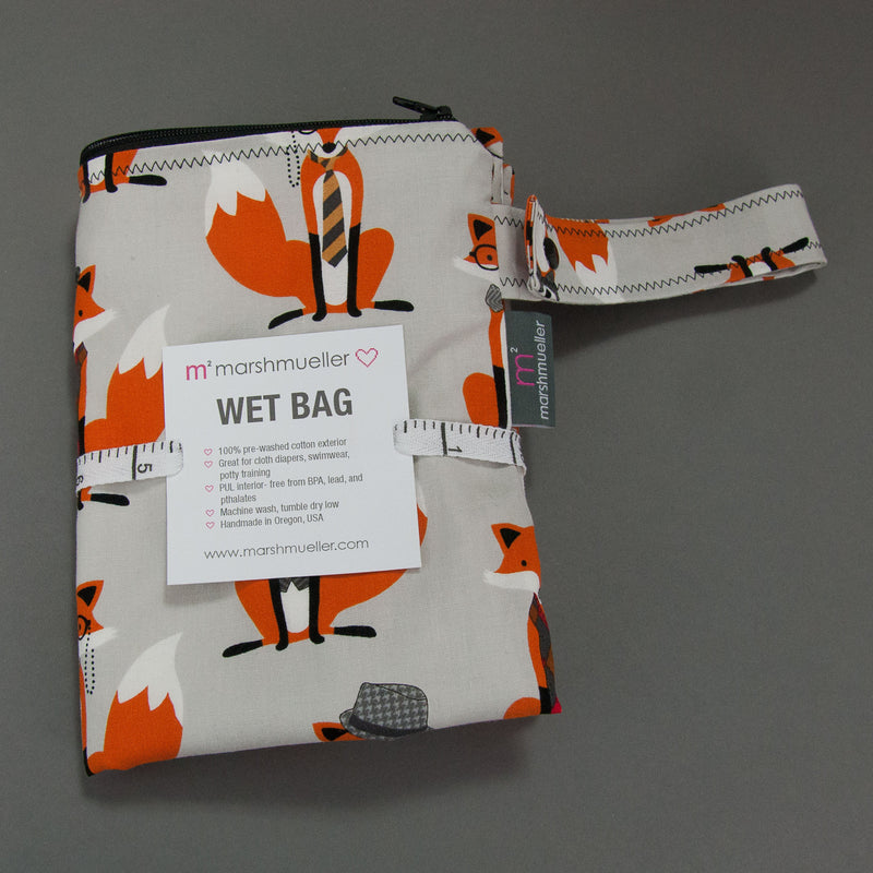 Dapper Foxes Wet Bag