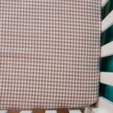 Grey Houndstooth Fitted Crib Sheet by MarshMueller
