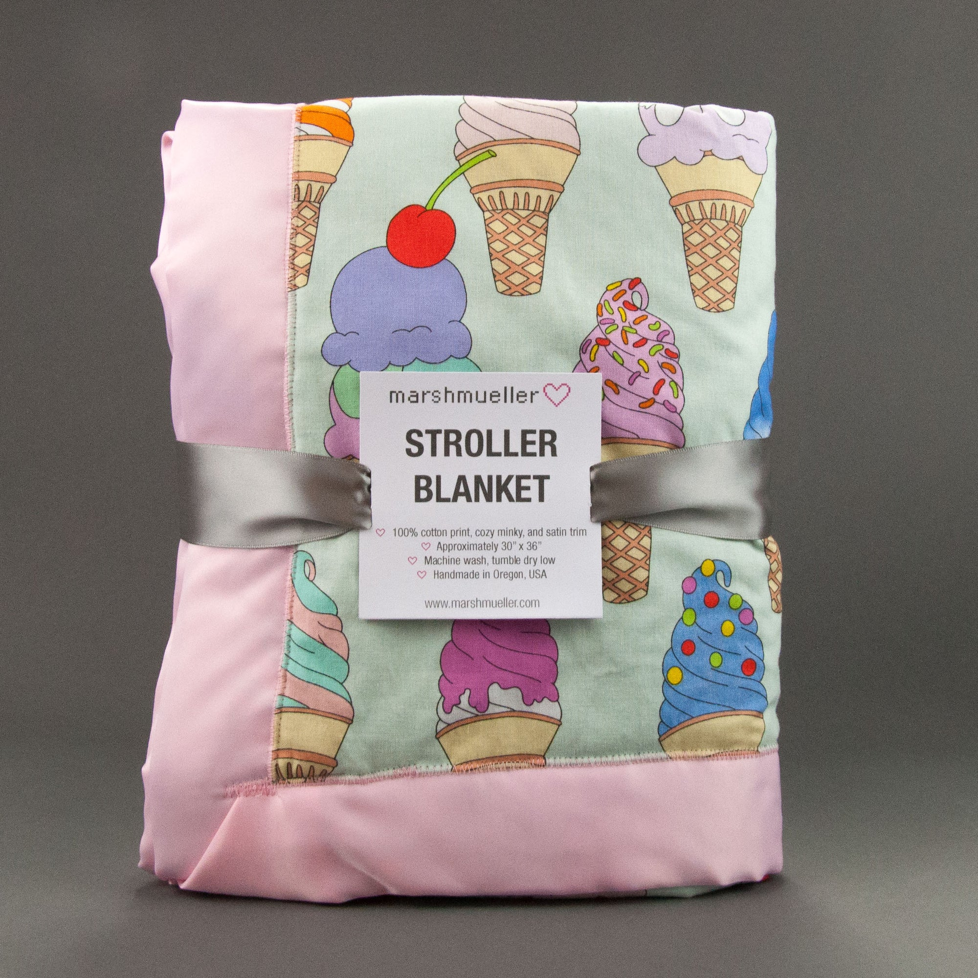 I Scream, You Scream Stroller Blanket