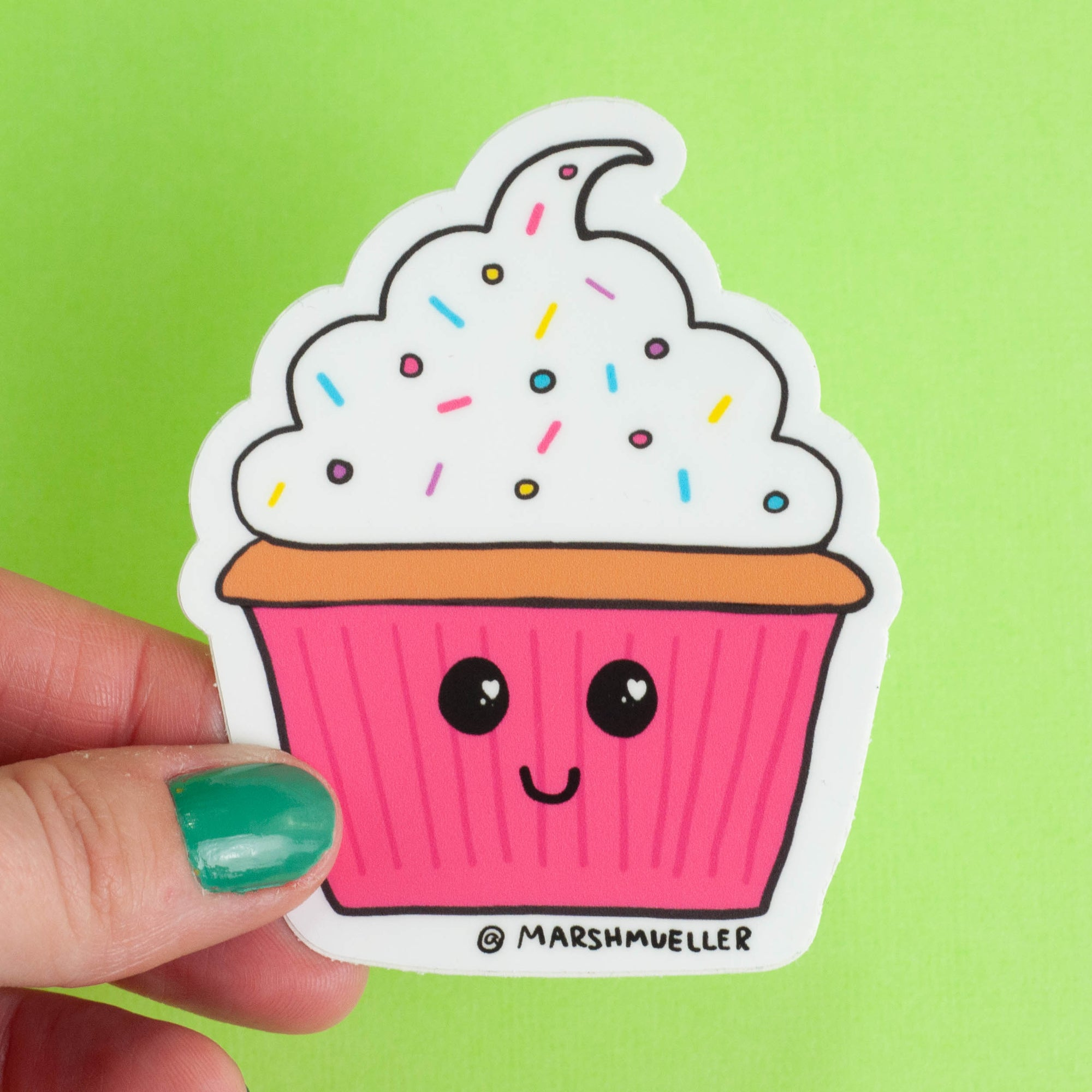 Kawaii Cupcake Sticker