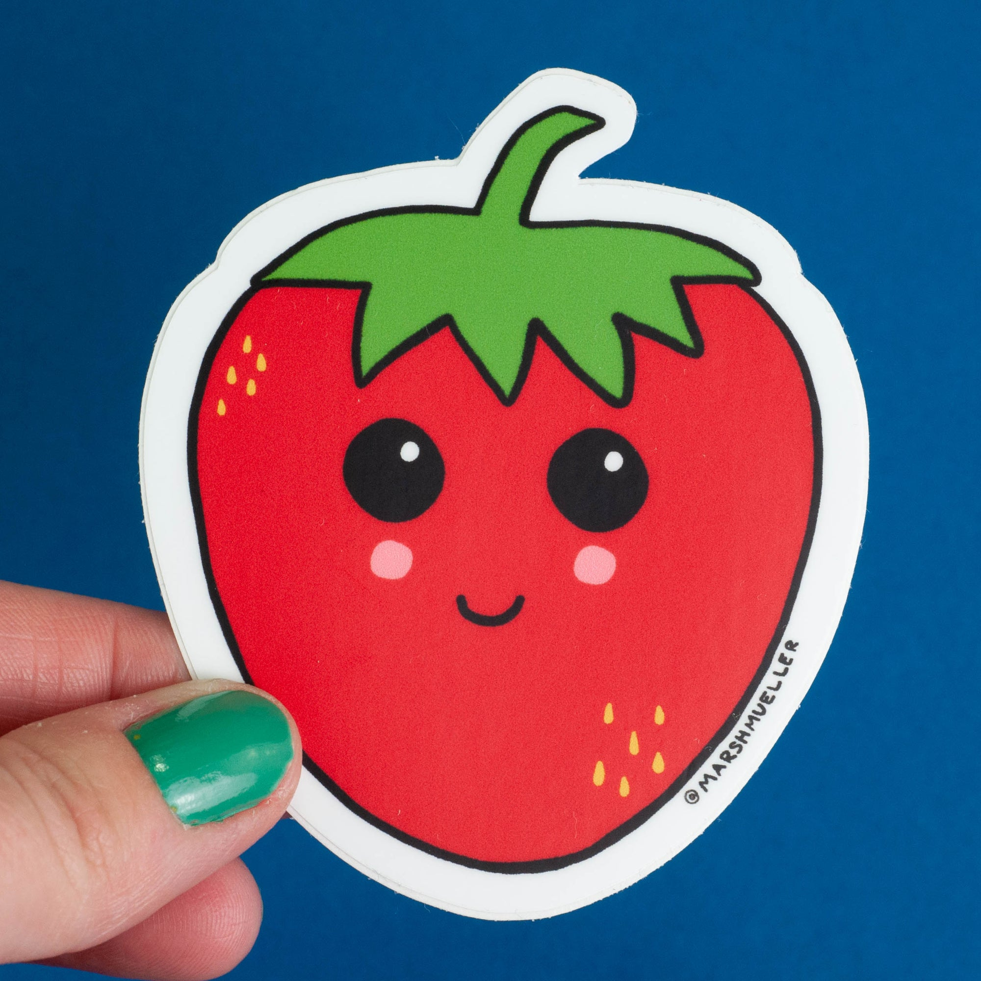 Kawaii Strawberry Sticker