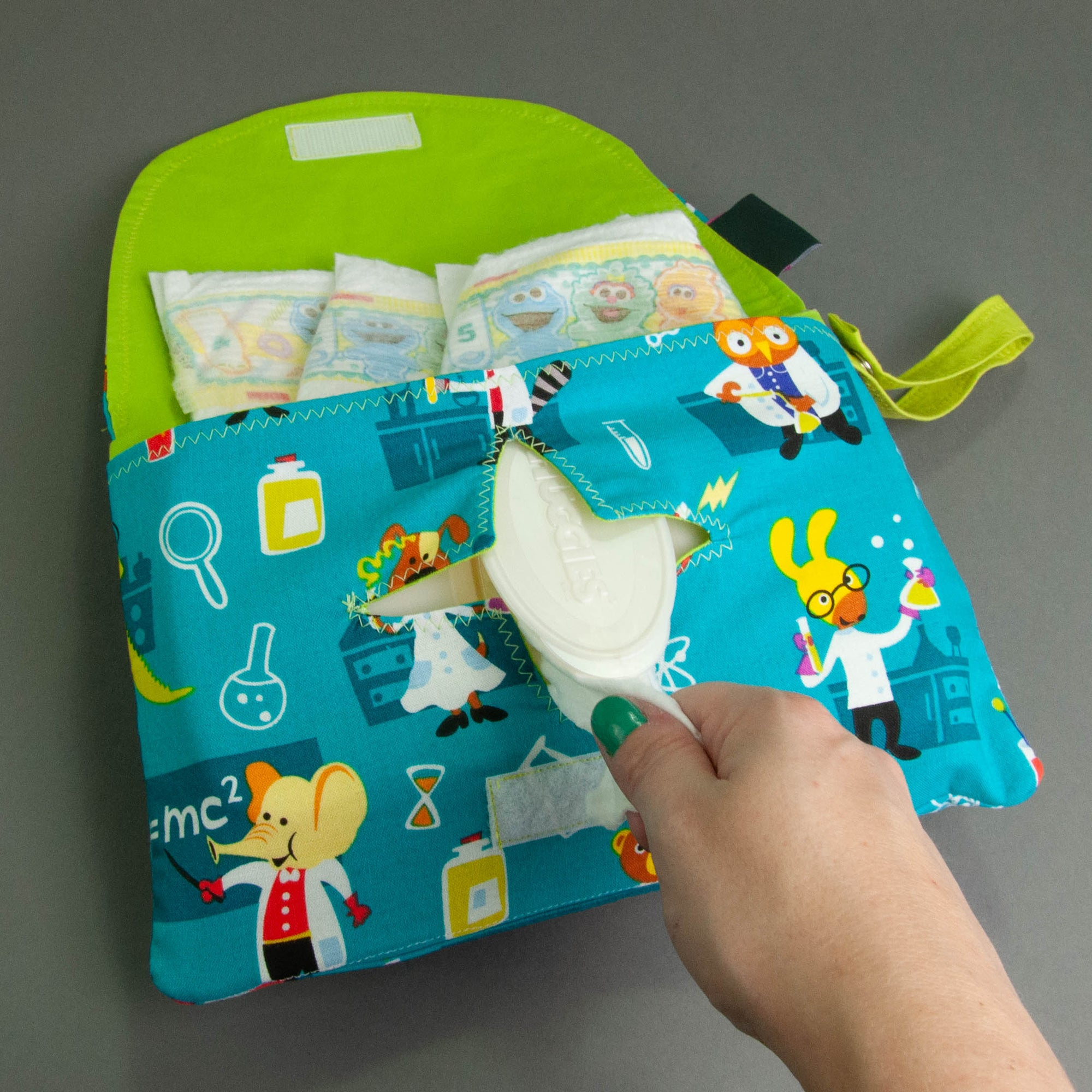 Lab Animals Diaper + Wipe Clutch