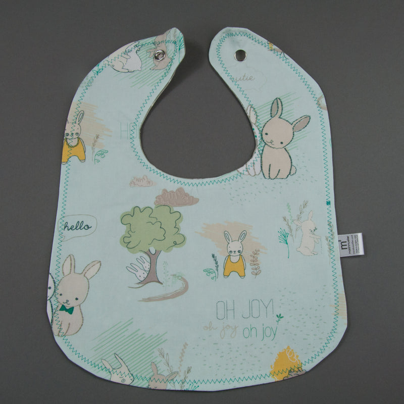 Littlest Bunnies Blue Bib