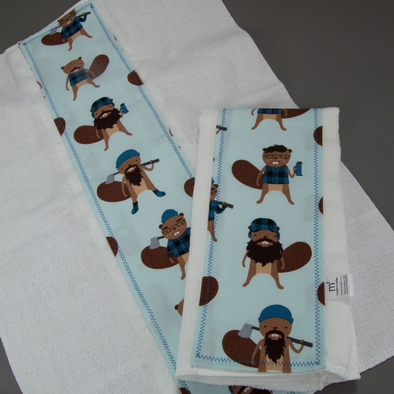 Logger Beavers Burp Cloth Set